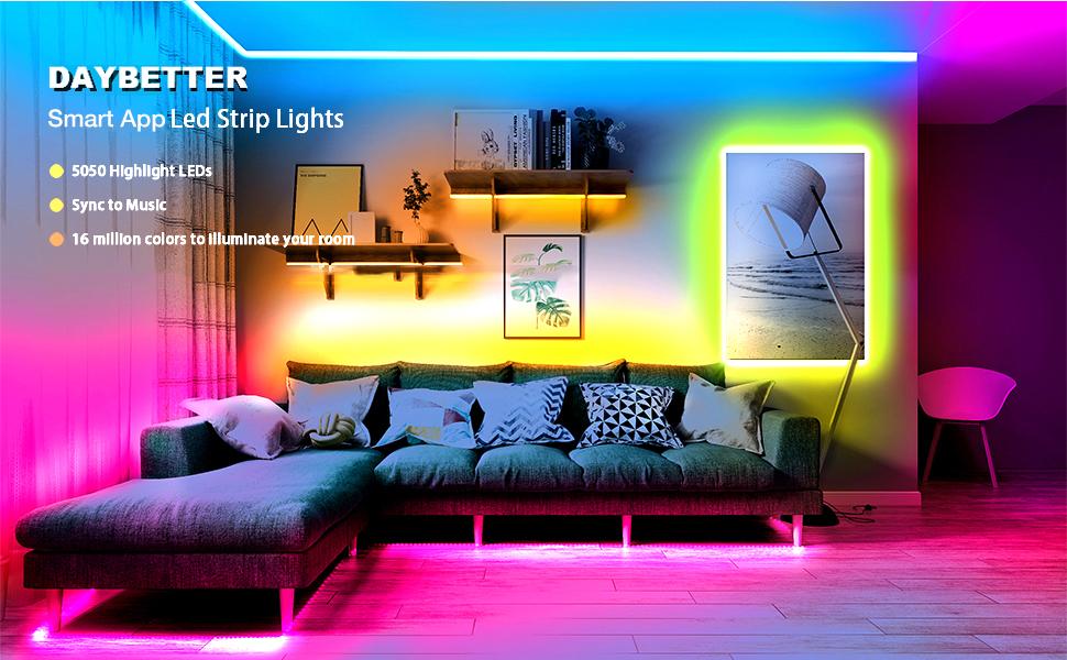 DAYBETTER Smart App Led Strip Lights