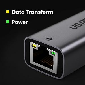ethernet adapter usb c with led indicator