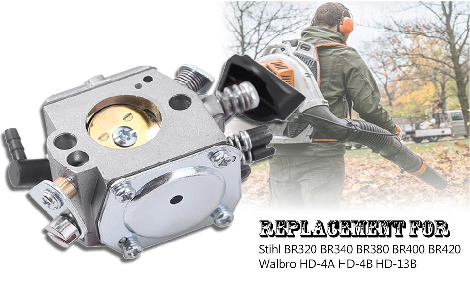 WFLNHB Vergaser f/ür Stihl BR400 BR420 BR320 BR380 42031200601 Rucksack Gebl/äse GB Carb