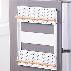 Estante lateral organizador de refrigerador magnético multiusos ...