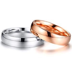 5MM rose gold ring for women