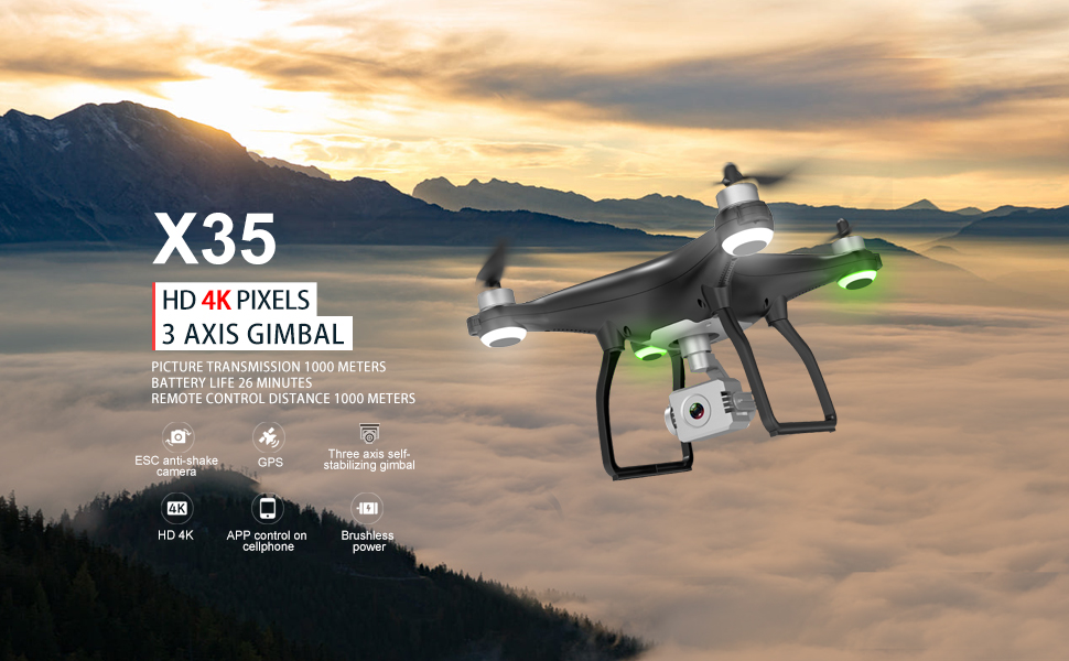 X35 GPS Drohne