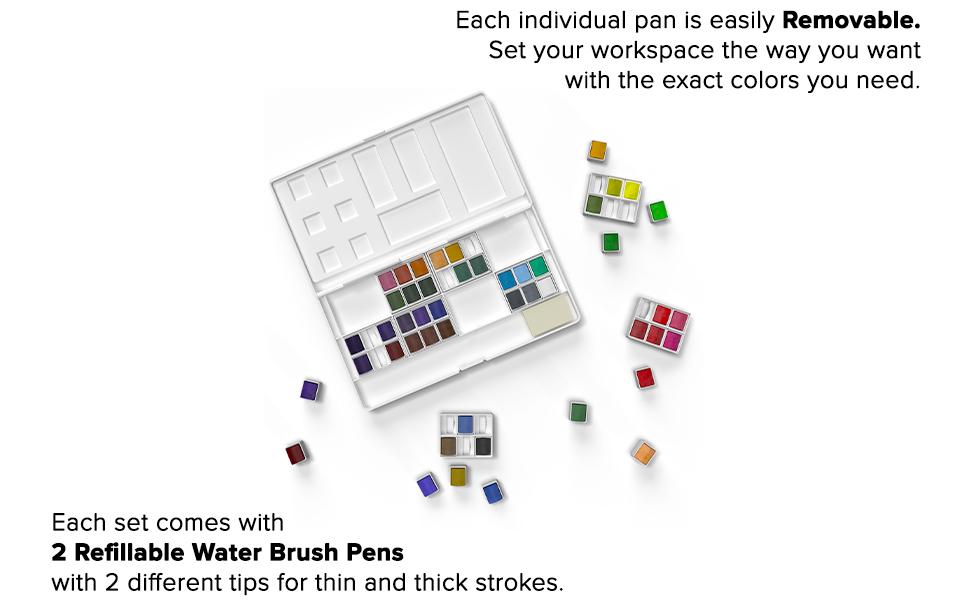 Paint palette, removable pans
