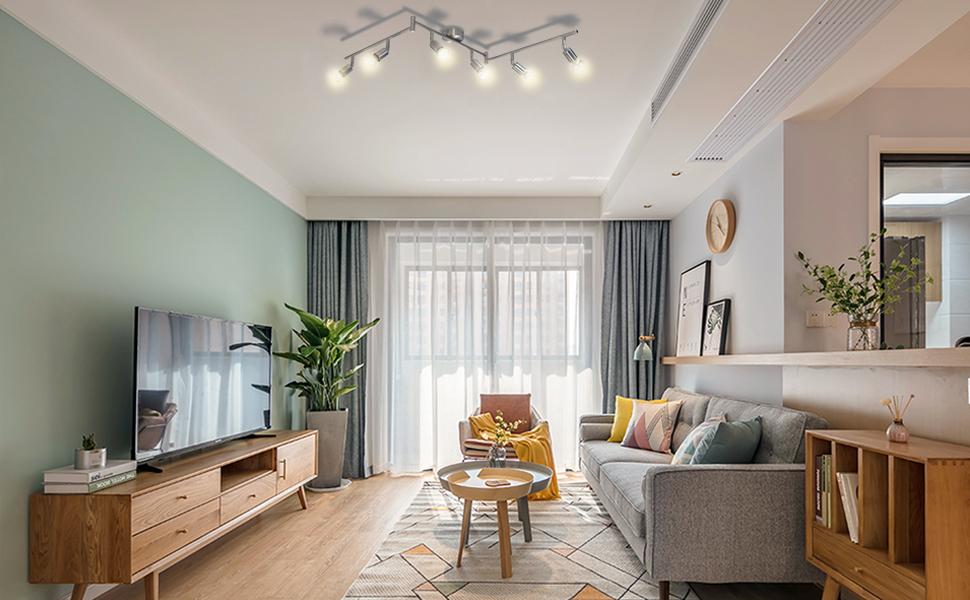 plafonnier led orientable chambre lampe cuisine salle de bains luminaire orientable eclairage grand