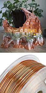 silk metal filament