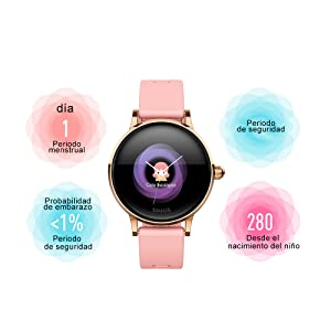 SoloKing Reloj Inteligente Mujer Impermeable con Monitorización ...