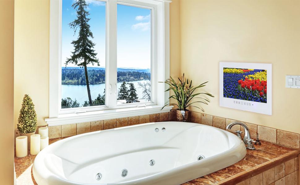 Luxury white color smart tv
