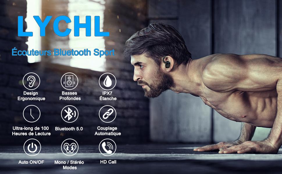 Écouteurs Bluetooth Sport