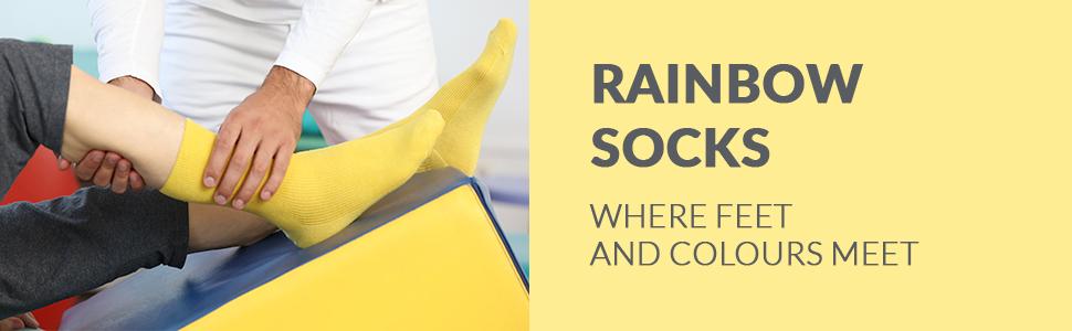 Rainbow Socks. Where feet and colours meet.