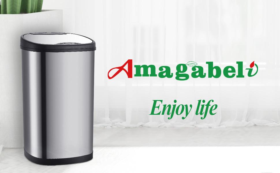 13Gallon // 50L Recycler Kitchen Bin Edelstahl Automatischer Sensor M/ülleimer Automatischer Ber/ührungsloser Infrarot Bewegungsmelder M/ülleimer K/üche f/ür Das Home Office Badezimmer