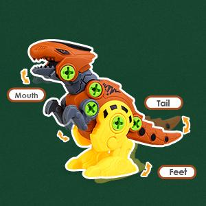 Flexible dinosaur