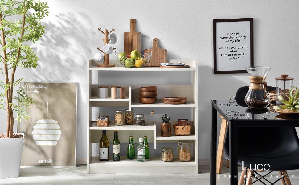 デザイン性と収納を兼ね備えたオープン本棚