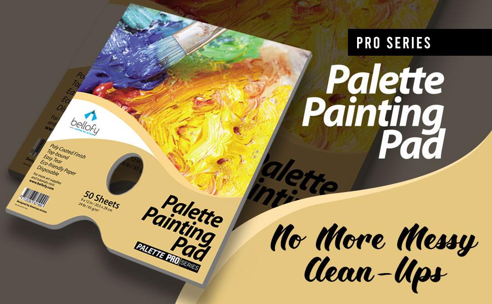 KUIDAMOS Paleta desechable de 25 Hojas Almohadilla de Papel Blanco Paleta de Pintura al /óleo Profesional Gouache Paleta Profesional Desmontable