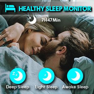 sleep monitor watch for fitbit watch sense fitness tracker activity tracker hrv