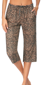 yoga capri pants with pockets for women