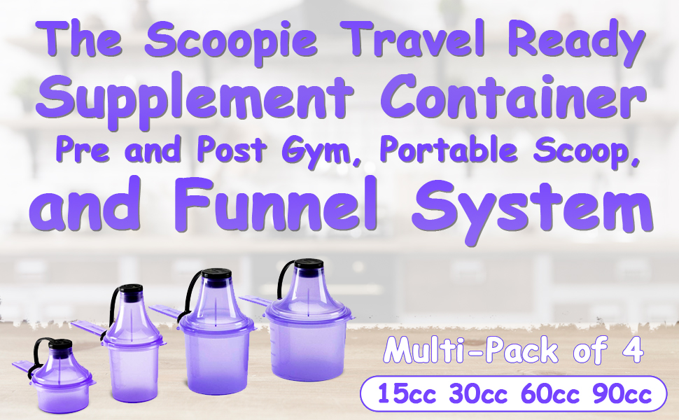 travel accessories containers pre work out drink measuring spoons grams bottle funnel carrier whey