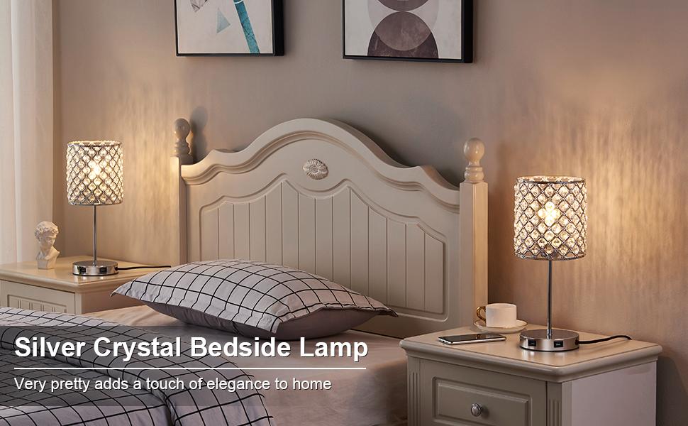 sliver crystal lamps
