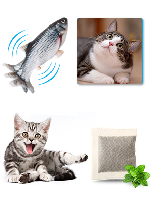 2 Pack Electric Cat Fish Toy