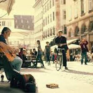street musician, guitar, bass guitar, bass, bassist, guitarist, guitar glove, bass glove