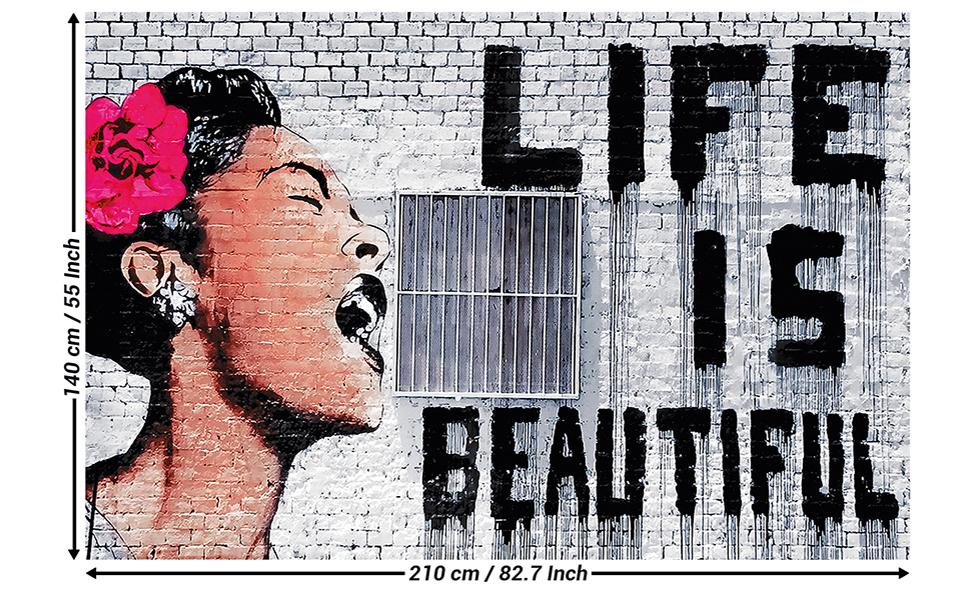 3D Artist Works Street Graffiti Art Wallpaper Wall Murals Removable Wallpaper 42