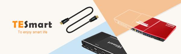 TESmart Newest HDMI KVM Switch 4 Port 4K@60Hz