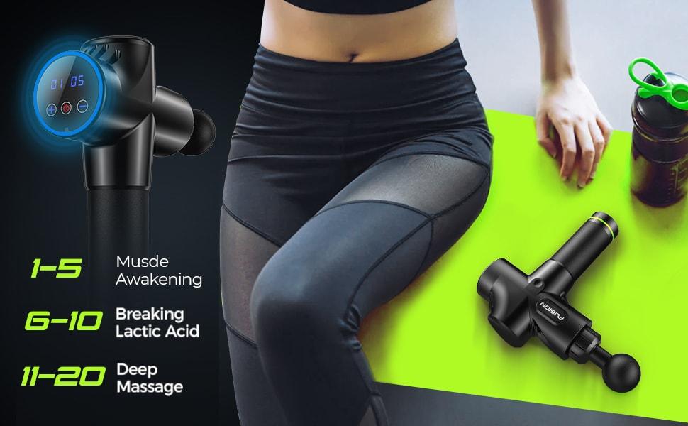muscle massager gun massage quiet deep tissue muscle massage deep tissue massager percussion fit