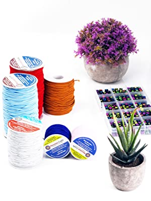 1mm 2mm Elastic Cord Stretchy String Rope for Necklace Bracelet Jewelry Making Journal Masks