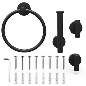 matte black bathroom hardware set