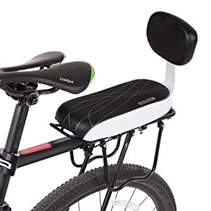 For Adult Child Comfortable Bicycle Seat Rack Soft Cycling Bike Rear Cushion