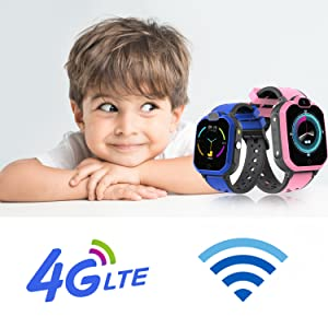 3-12 Year Old Compatible iOS Android SOS Alarm Clock Smart Watch Christmas Birthday Gifts for Kids