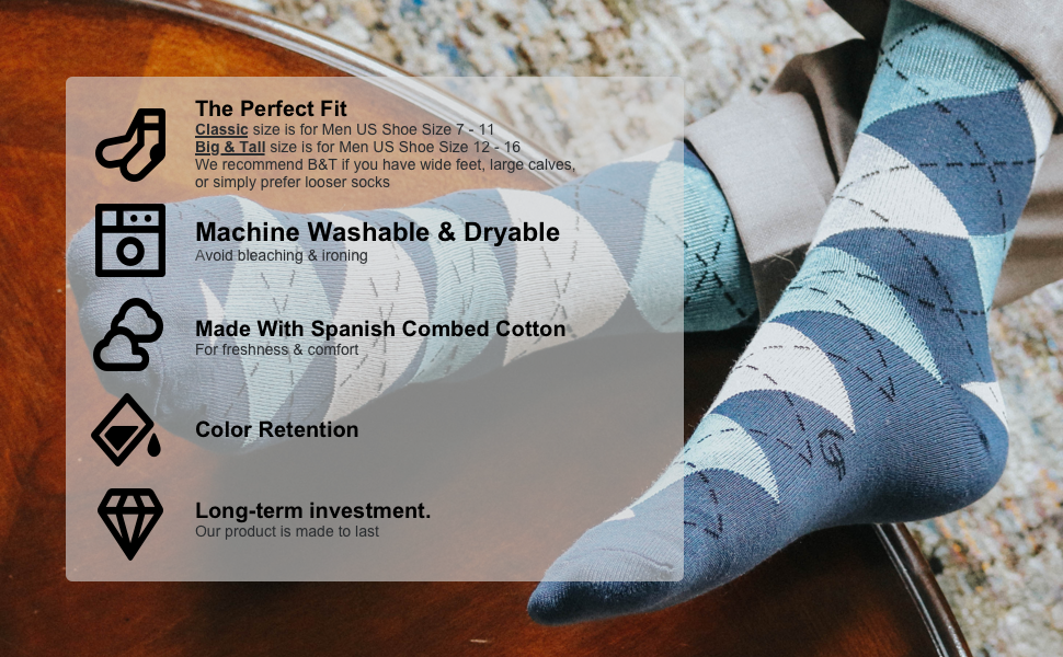 dress socks for men hih quality combed cotton