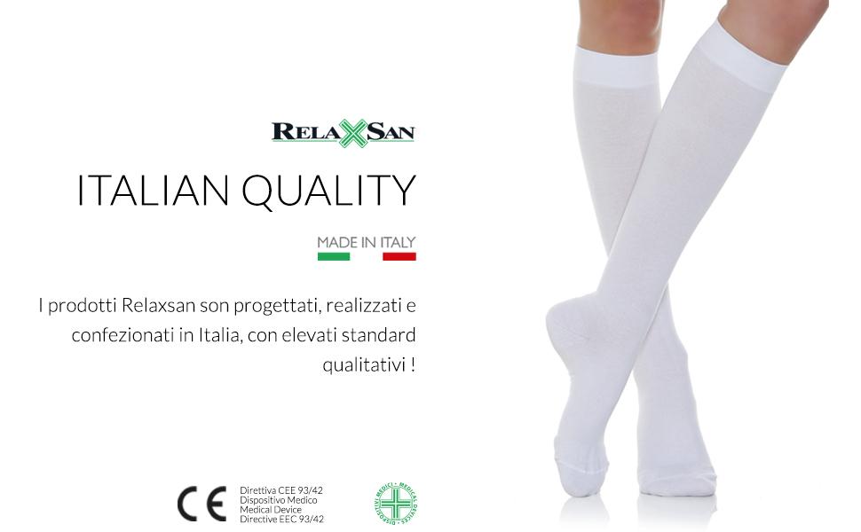 relaxsan calze a compressione graduata made in italy