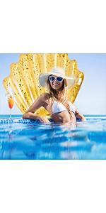 Gold Shell Swim Float