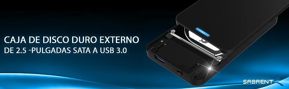 Sabrent Caja de disco duro externo sin herramientas SATA a USB 3.0 ...