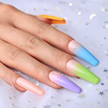 With the poly gel, create different nail design