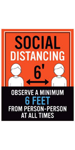 Social Distancing Observe A Minimum 6 Feet From Person-Person