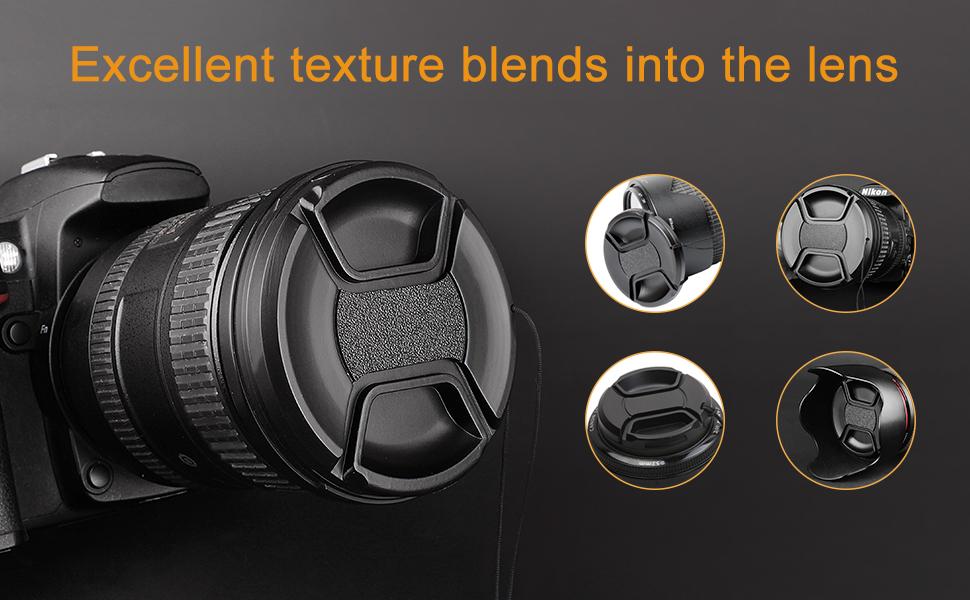 55mm 55 Mm Snap On Frontal Tapa De Lente Para Canon Nikon Sony Pentax DSLR cámara