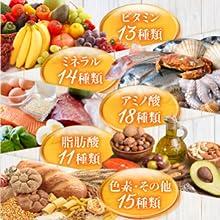 70種類以上の栄養素
