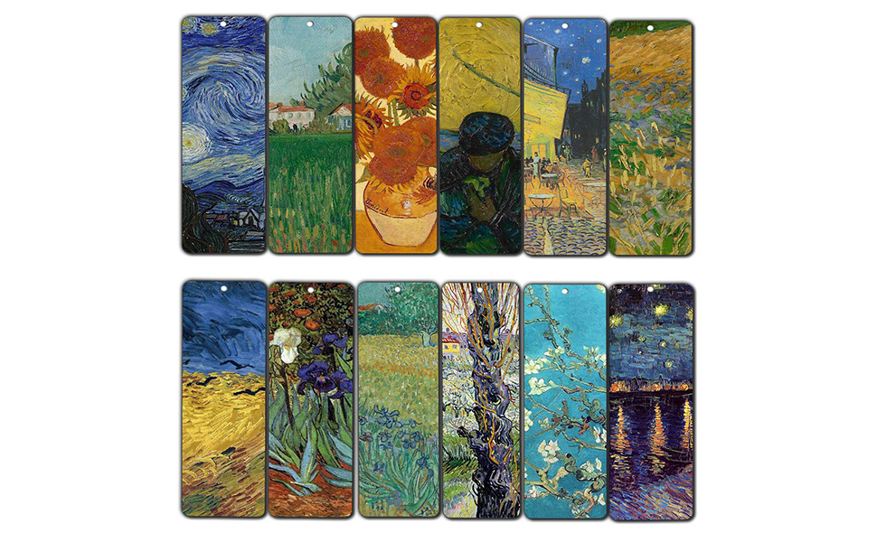 Creanoso Van Gogh Quotes Bookmarks 12 Pack Premium Gift Set Inspiring Classical Art Sayings Set Great Bookmarker Collection For Men Women