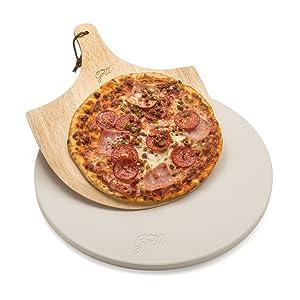 Pizza paddle stone steel cordierite rectangular circular round set peel grill bbq accessories