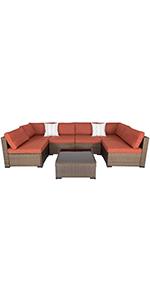 7 Piece wicker sofa