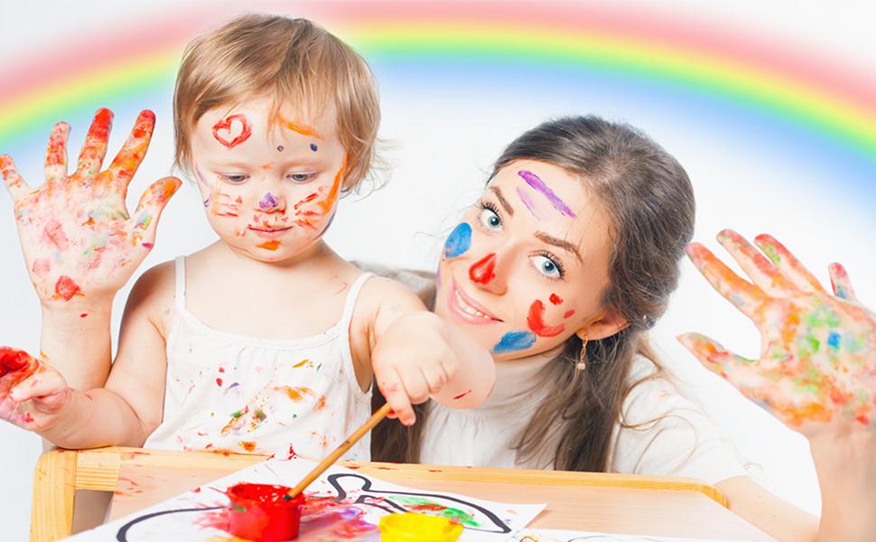 pinturas de dedos para niños