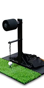 golf swing trainer without carpet mat