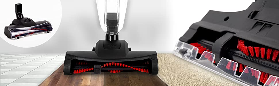 aspiradora de escoba vertical pequeña hogar oficina sin bolsa filtro hepa reutilizable