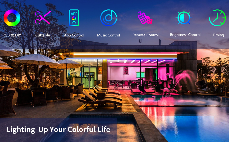 Main features of DANSNY LED strip lights