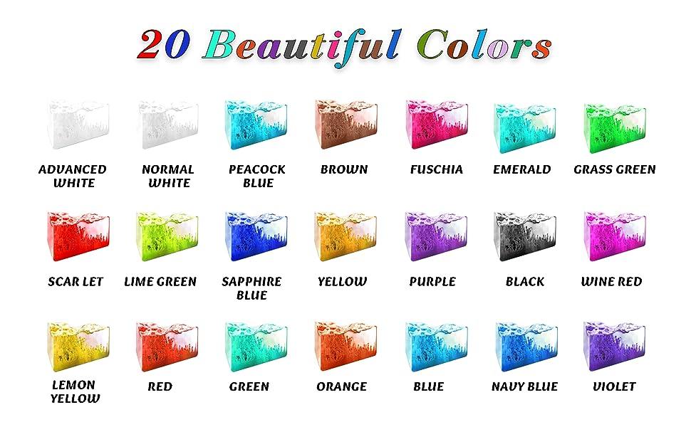 Alcoholinkt set levendige kleuren hoog geconcentreerde inkt op alcohol gebaseerde, geconcentreerde epoxyhars verf