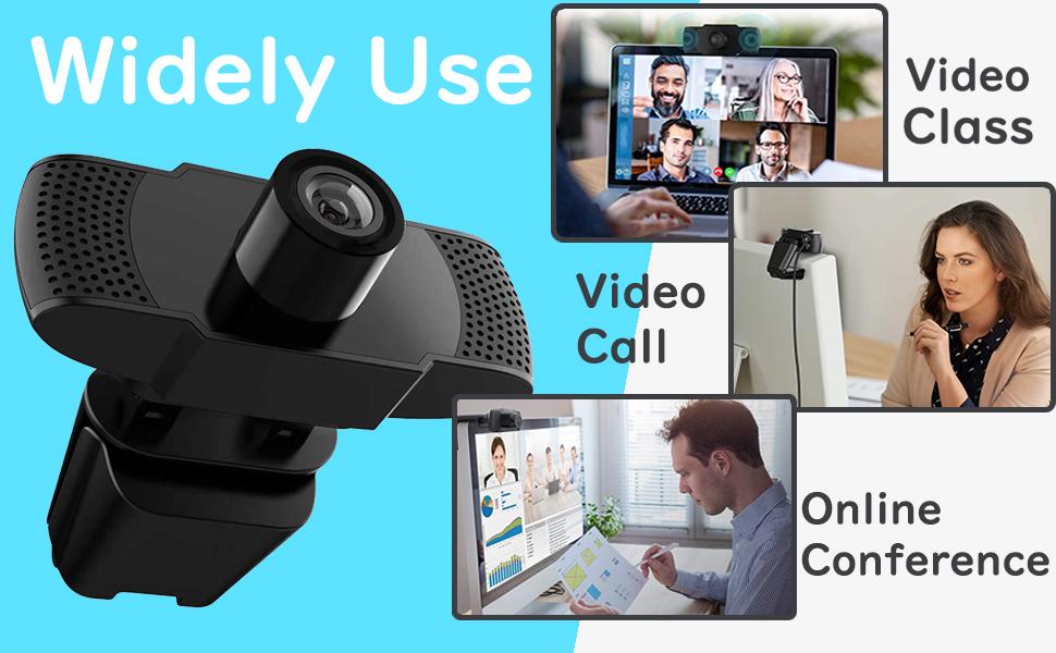 Amazon Com 1080p Webcam With Microphone Usb 2 0 Pc Laptop Desktop