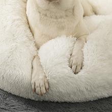 Soft Shag Vgan Fur Dog Bed
