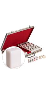 Professional Chinese Mahjong Set with Aluminum Case