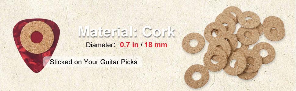 Guitar Pick Non-slip Grip Cork